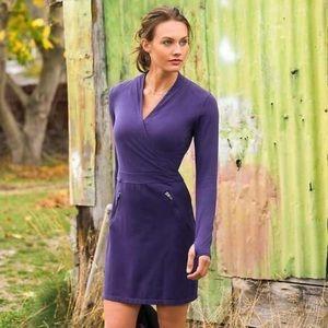 Athleta Suedy Lady purple long sleeve dress XS